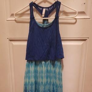 Girls blue maxi dress